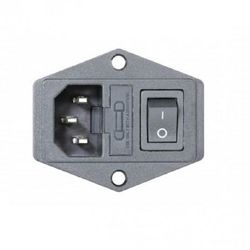 230V Power Socket with On-Off Switch and Fuse