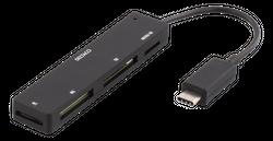 Deltaco USB-C Card Reader - 4-slot
