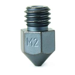 Micro Swiss M2 Hardened High Speed Steel Nozzle - MK8 - 0-80mm