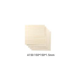 Snapmaker Basswood Sheet-A150 - 150x150x1-5mm - 5-pack